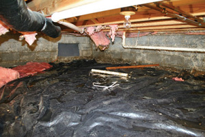 Crawl Space Repair Before in San Antonio