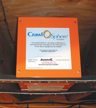 A ventilation fan installed for a crawl space in Bulverde