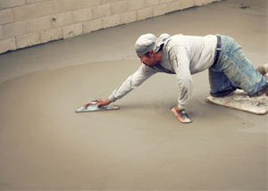 smoothing out the grout in a slab releveling project in Del Rio