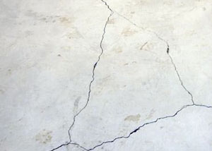 cracks in a slab floor consistent with slab heave in Lockhart.