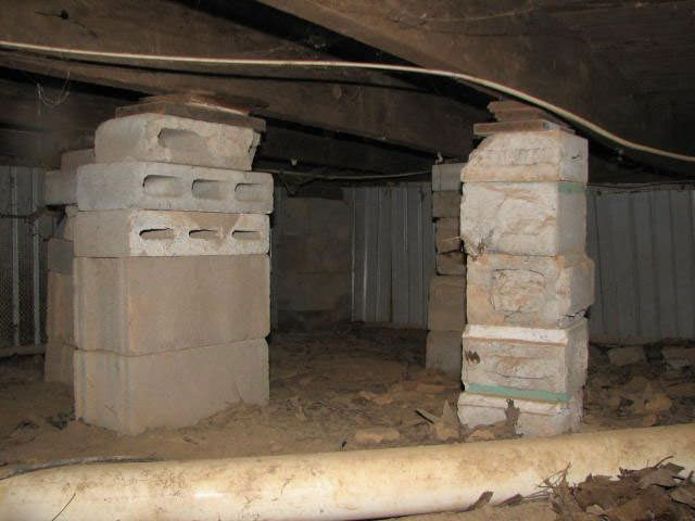 Sagging crawl space repair in san antonio victoria for Crawl space foundation