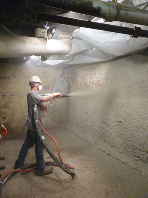 Shotcrete wall restoration services in San Antonio