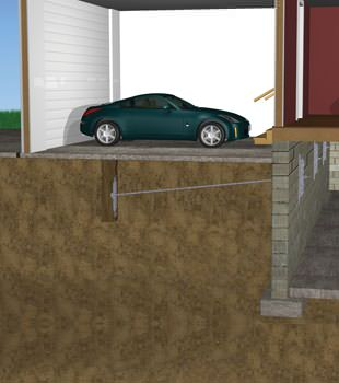 Graphic depiction of a street creep repair in a Cibolo home
