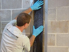 CarbonArmor® Strip applied to wall in Eagle Pass